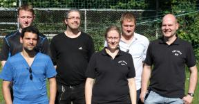 hintere Reihe: Daniel Flaskamp, Cord Beermann, Matthias Radke vordere Reihe: Jav